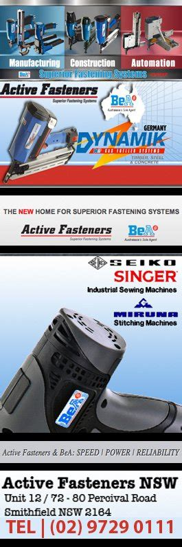 nails staples pty active fasteners pty ltd nails nailing equipment 12 72 80 percival rd smithfield
