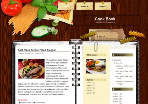 cookbook templates word tiny tid bits just another page 2