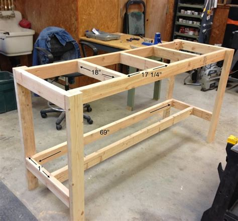 build a simple bench simple workbench by april wilkerson lumberjocks com