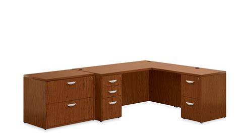 L Shaped Desk Wood Offices To Go Ventnor Wood Veneer L Shaped Desk Collection