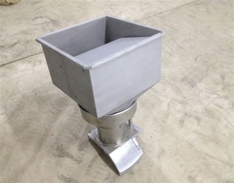 bead blasted stainless steel agritec high capacity auto hopper for dicer