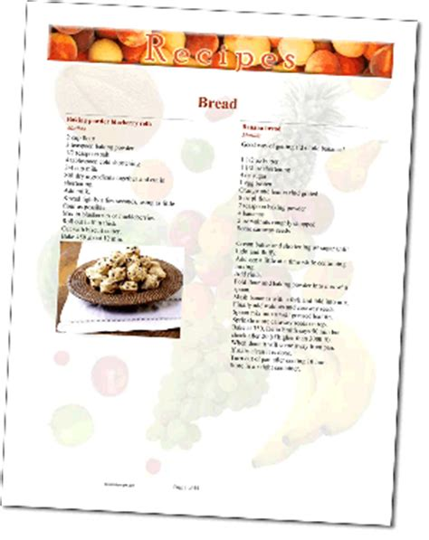creating a cookbook template recipe templates make cookbook easythe cookbook