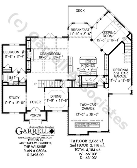 wilshire house plan house plans by garrell associates inc