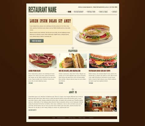 restaurant website template free restaurant web