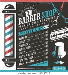 barber shop vector price list template poster id 118248716