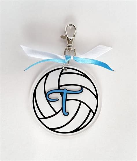 personalized volleyball bag tag custom luggage tag