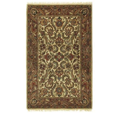 area rugs home decorators home decorators collection chantilly beige rust 3 ft 6 in
