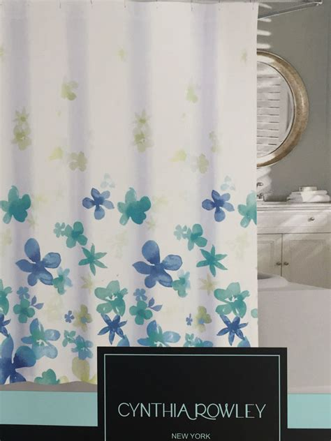 Coral And Turquoise Curtains Cynthia Rowley Floating Flower Aqua Turquoise Blue Fabric