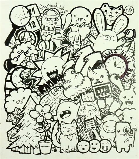 doodle drawing wallpaper randomness doodle by juliaart01 on deviantart