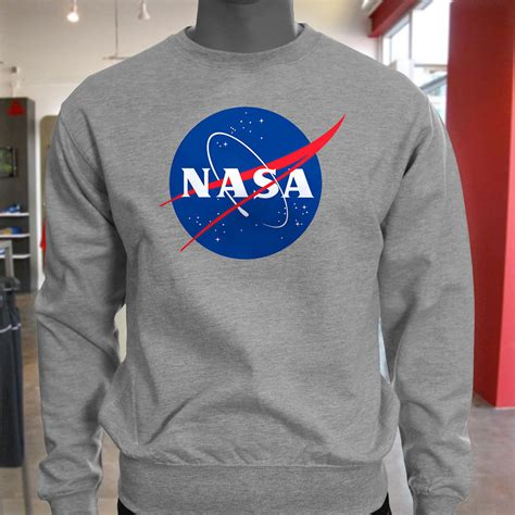 Hoodie Nasa Roffico Cloth 1 new great quality big nasa logo mens gray sweatshirt ebay