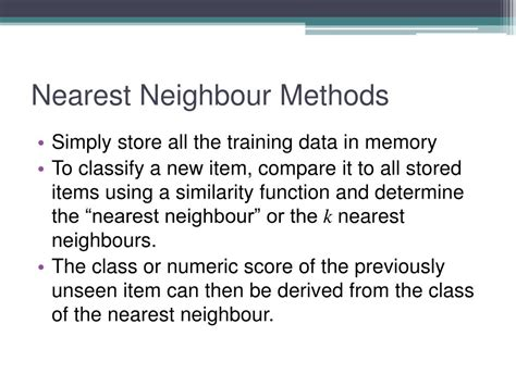 nearest neighbour rule pattern recognition ppt ppt content based recommendation systems powerpoint