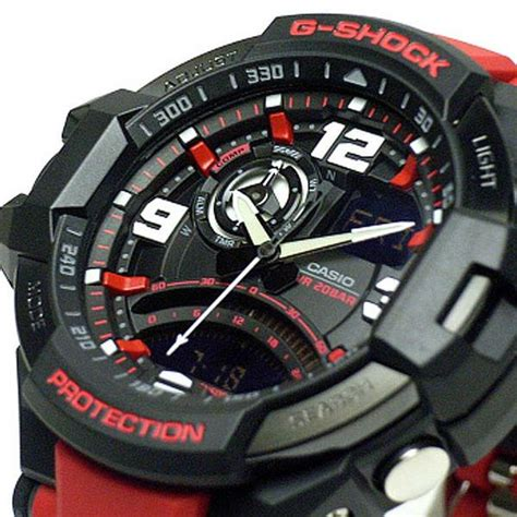 casio g shock ga 1000 4b merah casio g shock sky cockpit compass thermometer ga
