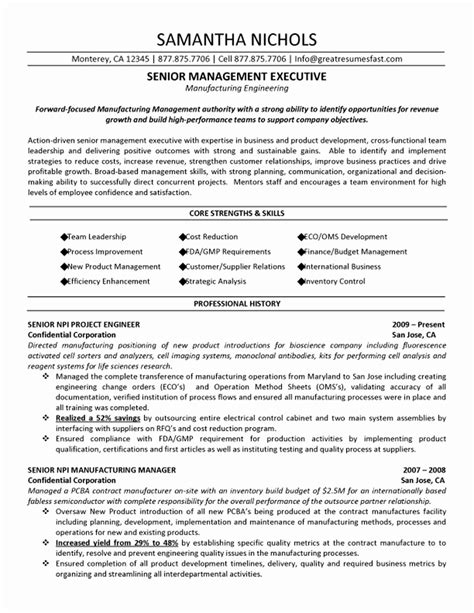 48 luxury stock of operation manager resume format