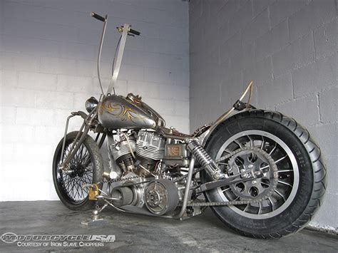 Oldtimer Motorrad Chopper by Custom Builder Iron Slave Choppers Photos Motorcycle Usa