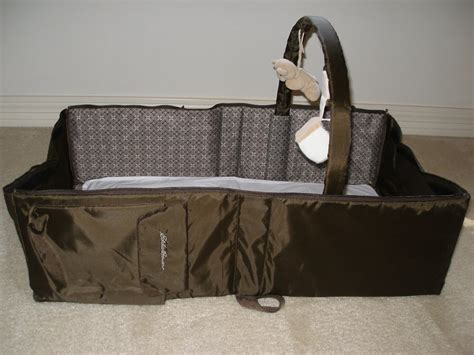 eddie bauer infant travel bed the tourist baby travel with kids product review eddie