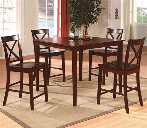crown 4 counter height table set crown theodore 2753set esp 5 counter height