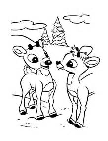 rudolph coloring pages free printable rudolph coloring pages for
