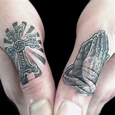 cross tattoo on hand near thumb 90 thumb tattoos for men left and right digit design ideas