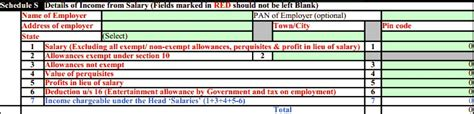 section 10 13a hra exemption calculation tax and income tax return