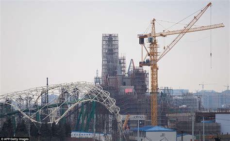theme park under construction disney s theme park under construction in shanghai daily
