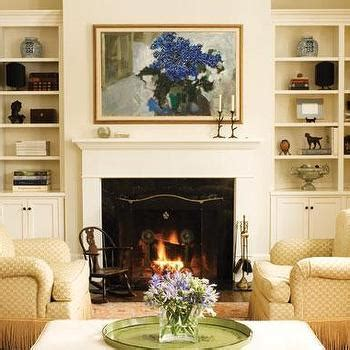 Beadboard Wall Bookcase Fireplace Built In Cabinets Design Ideas