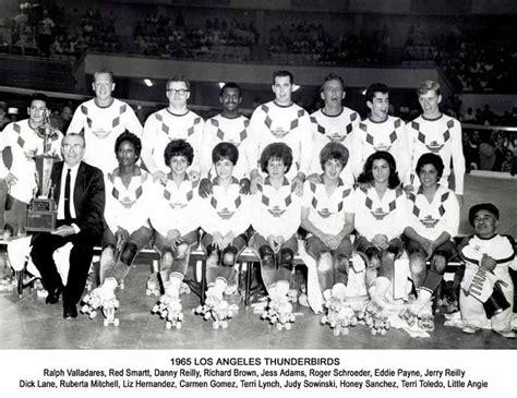 los angeles thunderbirds roller derby thunderbirds roller derby 1965 team photo quot i love l a