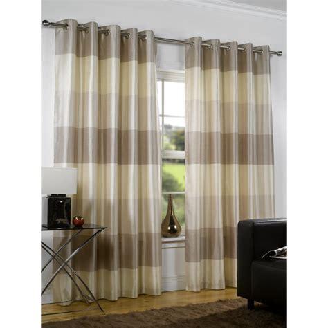 urban curtains urban living rio natural stripe eyelet readymade curtain