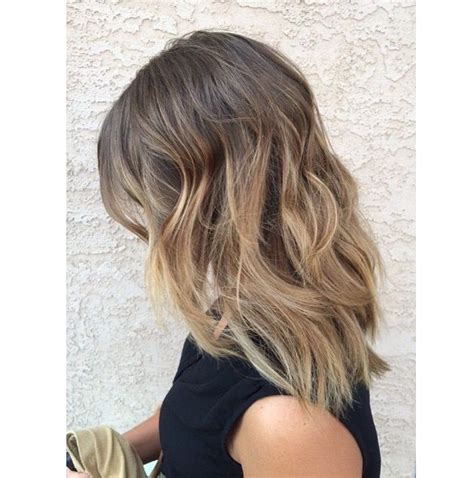 medium length blonde ombre light brown to blonde ombre sombre balayage brunette