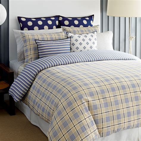 tommy hilfiger spectator plaid comforter and duvet cover