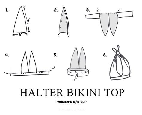 pattern drafting halter top halter and high waist bikini diy the sewing rabbit