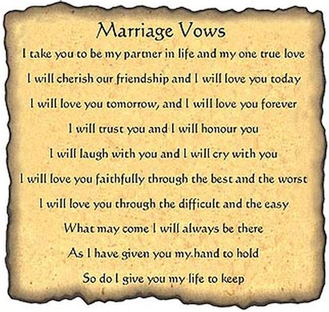 Wedding Vows by Traditional Wedding Vows Margusriga Baby The