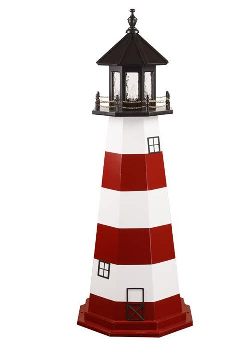 decorative lighthouses for in home use assateague va wooden garden lighthouse by dutchcrafters amish