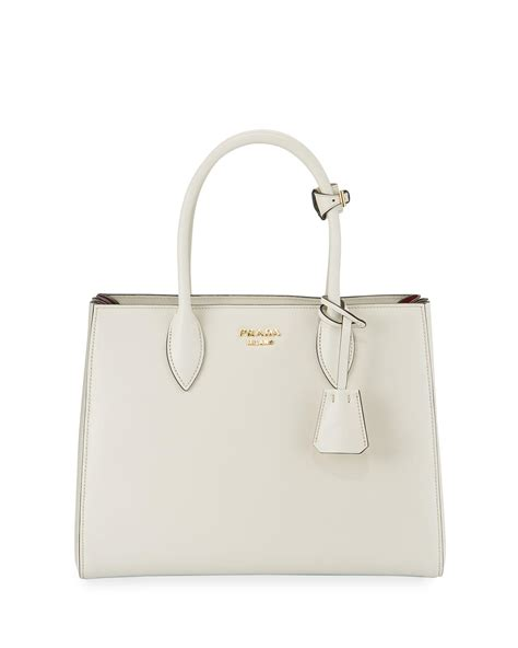 Prada Tote Bag Free Pouch Size 34x27x15 prada biblioth 232 que medium colorblock tote bag in white lyst
