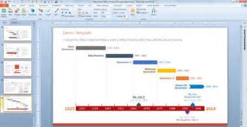 make a timeline powerpoint template using office timeline