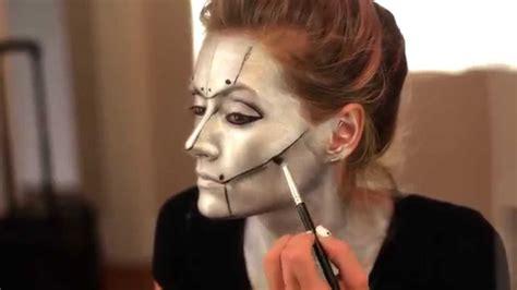 tutorial makeup robot halloween makeup tutorial robot youtube