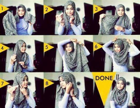 tutorial gambar wanita contoh tutorial hijab modern menutup dada