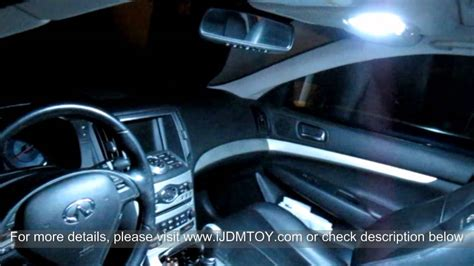 Direct Exact Fit LED Panel Lights Interior Package for 2007 2012 Infiniti G37 YouTube