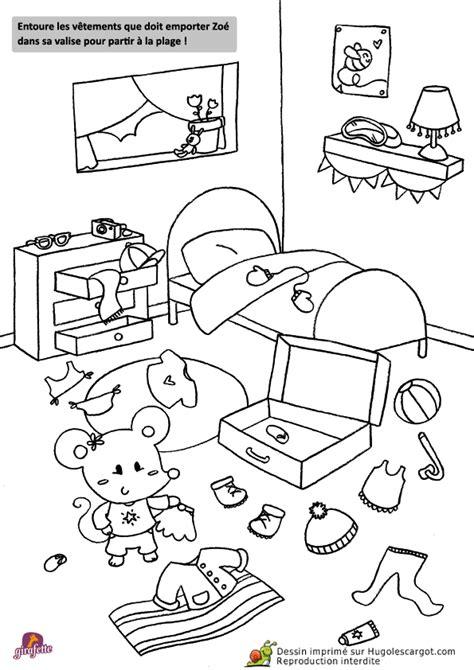 dessin chambre enfant coloriage chambre sur hugolescargot com