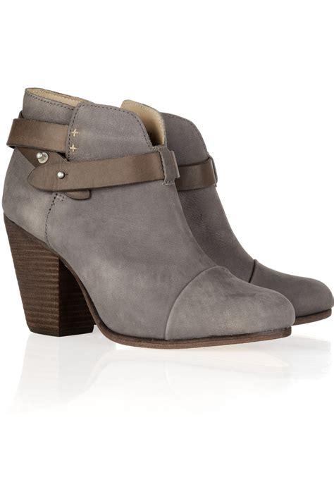 rag and bone boots rag bone harrow brushed leather ankle boots in gray