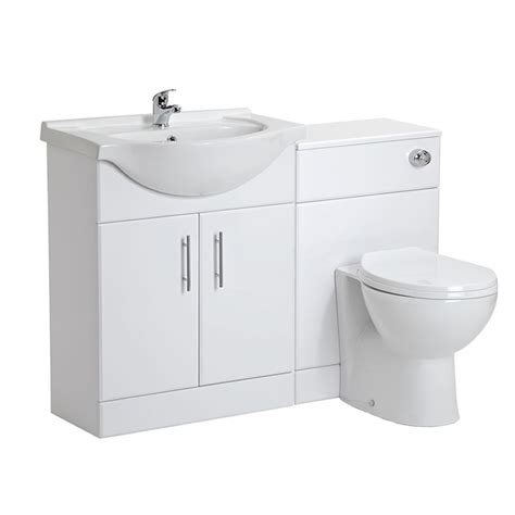 toilet with sink on milano 650mm white gloss furniture sink toilet set