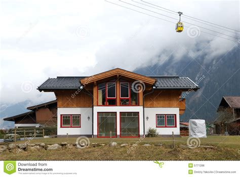what is a chalet modern chalet under cable road stock photo image 5771288
