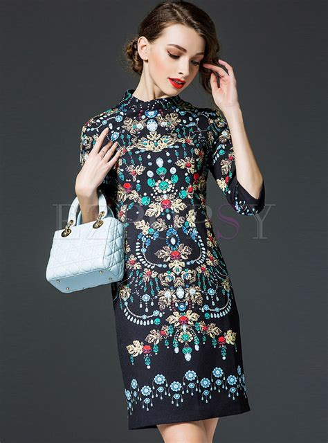 Print Sleeve Dress print half sleeve dress ezpopsy