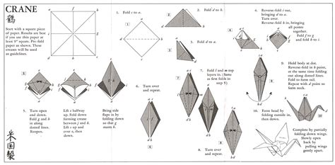 Folded Paper Crane - how to fold a paper crane gomez