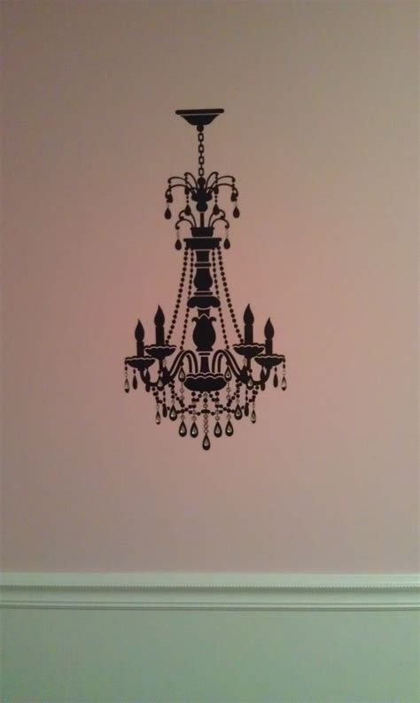 Chandelier Decals Chandelier Wall Decal W Rhinestones Home