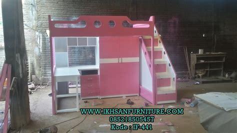 Tempat Tidur Single Atas Bawah model tempat tidur tingkat bawah meja belajar jual