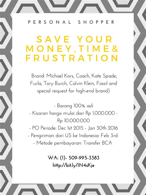 Kisaran Tas Michael Kors personal shopper save your money time and frustration