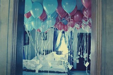 Bedroom Decoration Ideas For Birthday Balloons Balloons In Room Bedroom Blue Blue And
