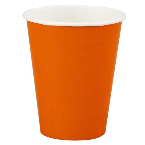 A Paper Cup - 12oz orange paper cups