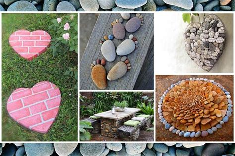 easy garden crafts easy diy garden projects with stones corner