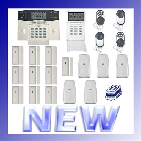 wireless home security alarm system w auto dialer